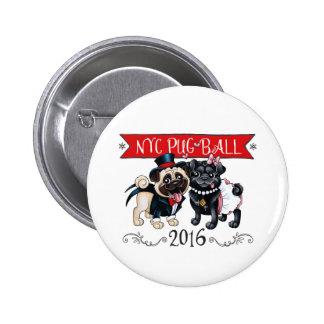 Botón de la bola 2016 del barro amasado de NYC Pin Redondo De 2 Pulgadas