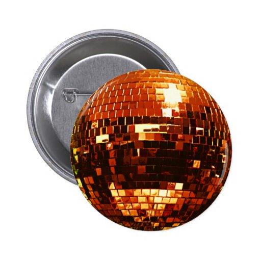 Botón de la bola de discoteca del ORO Pin