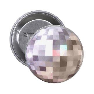 Botón de la BOLA DE DISCOTECA Pin Redondo De 2 Pulgadas