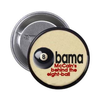 Botón de la bola de Obama ocho Pin Redondo De 2 Pulgadas