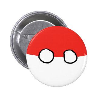 Botón de la bola de Polonia Pin Redondo De 2 Pulgadas