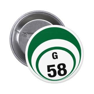Botón de la bola del bingo G58 Pins