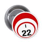 Botón de la bola del bingo I22 Pin Redondo De 2 Pulgadas