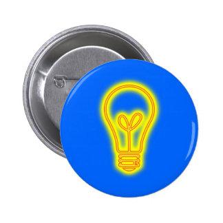 Botón de la bombilla pin redondo de 2 pulgadas