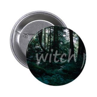 Botón de la bruja del bosque pin