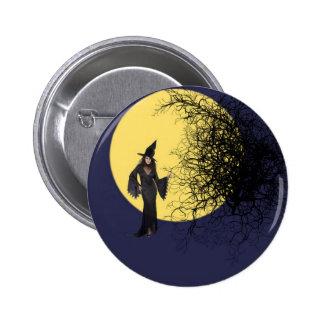Botón de la bruja pin redondo de 2 pulgadas