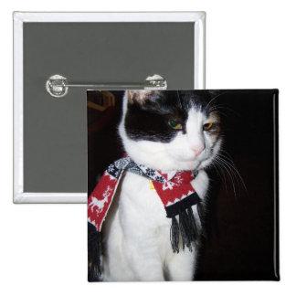 Botón de la bufanda del gato de calicó que lleva pins