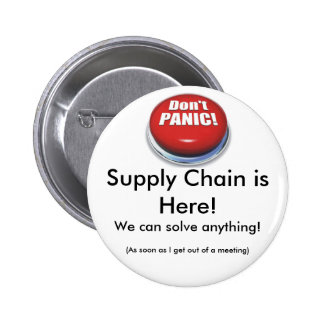Botón de la cadena de suministro pin redondo de 2 pulgadas