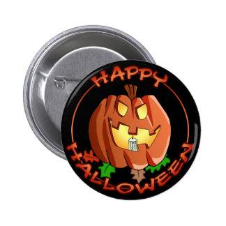 Botón de la calabaza del feliz Halloween