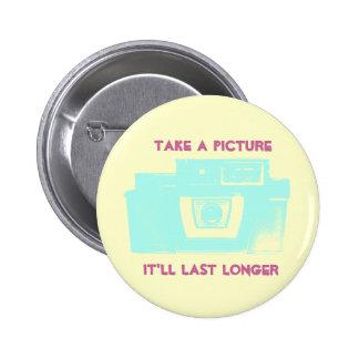 Botón de la cámara de la película del vintage de l pin redondo de 2 pulgadas