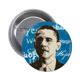 Botón de la campaña de Barack Obama Pin Redondo De 2 Pulgadas