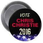 Botón de la campaña de CHRISTIE 2016 de Chris del  Pins