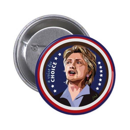 botón de la campaña de hillary Clinton Pin Redondo De 2 Pulgadas