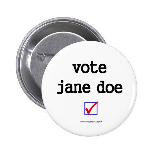 """""""Botón de la campaña de la gama de Jane del voto"""" Pin Redondo 5 Cm"""