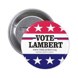 Botón de la campaña de Lamberto del voto Pins