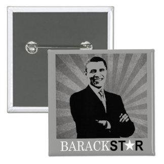 Botón de la campaña de Obama 2012 - estrella de Ba Pin Cuadrado