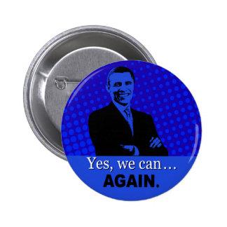 Botón de la campaña de Obama 2012 - podemos sí, ot Pins