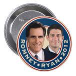 Botón de la campaña de Romney-Ryan 2012 Pin