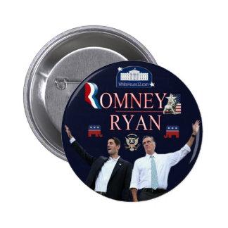 Botón de la campaña de Romney-Ryan 2012 Pin Redondo De 2 Pulgadas