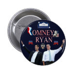 Botón de la campaña de Romney-Ryan 2012 Pins