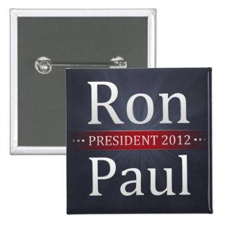 Botón de la campaña de Ron Paul 2012 Pin Cuadrado