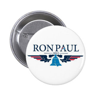 Botón de la campaña de Ron Paul 2012 Pin Redondo De 2 Pulgadas