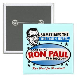 Botón de la campaña de Ron Paul Pin Cuadrado