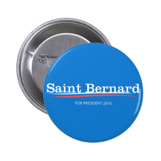 "Botón de la campaña de ""St Bernard"" de las Pin Redondo De 2 Pulgadas"