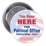 Botón de la campaña electoral de - independiente pins
