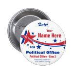 Botón de la campaña electoral de - independiente pin
