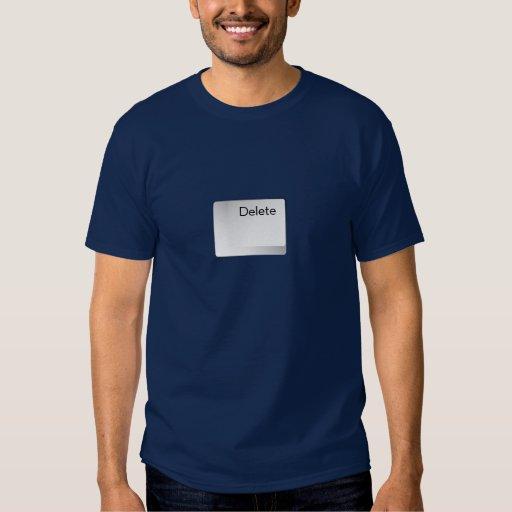 Botón de la cancelación de la camiseta playeras