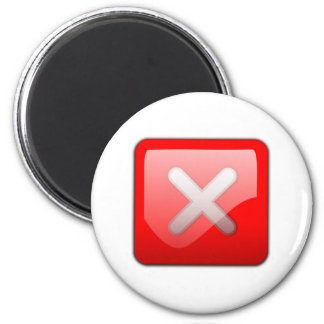 Botón de la cancelación del ordenador imán de frigorífico