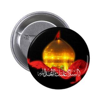 Botón de la capilla de Hussein del imán Pin Redondo De 2 Pulgadas