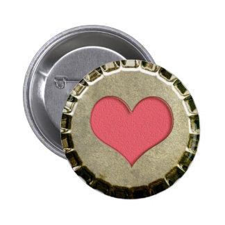 Botón de la cápsula del corazón pin redondo de 2 pulgadas