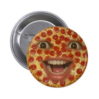 Botón de la cara de la pizza pin redondo de 2 pulgadas