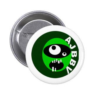 botón de la cara de los vigilantes del big band de pin