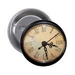 Botón de la cara de reloj del vintage pin