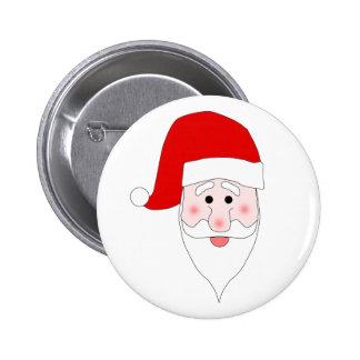 Botón de la cara de Santa