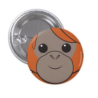 Botón de la cara del orangután de Sumatran