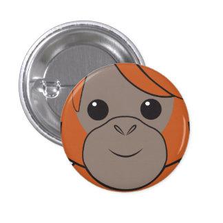 Botón de la cara del orangután de Sumatran Pin Redondo De 1 Pulgada