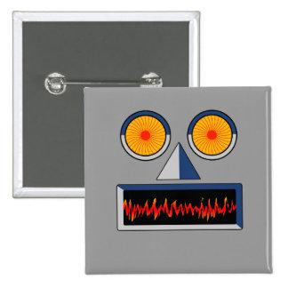 Botón de la cara del robot pins