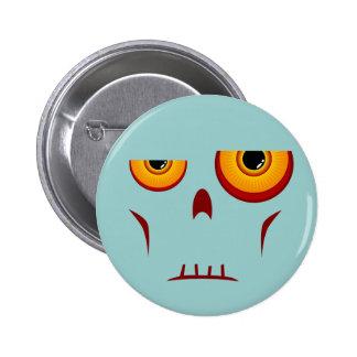 Botón de la cara larga del zombi