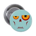 Botón de la cara larga del zombi pins