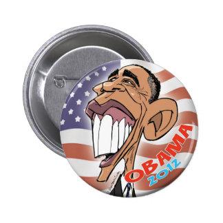 Botón de la caricatura del dibujo animado de Barac Pin