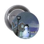 Botón de la casa del navidad pin