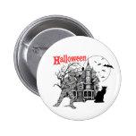 Botón de la casa encantada de Halloween Pin