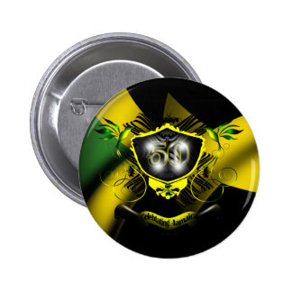 Botón de la celebración de Jamaica 50 Pins