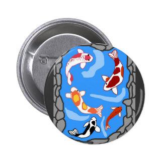Botón de la charca de Koi Pin Redondo De 2 Pulgadas