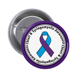 Botón de la cinta de la conciencia de Chiari y de Pin Redondo De 2 Pulgadas