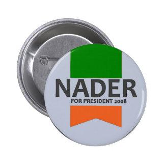 Botón de la cinta de Nader Pin Redondo De 2 Pulgadas